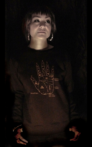 Death Traitors - Fall / Winter 2008 - Palmistry Girls Crewneck