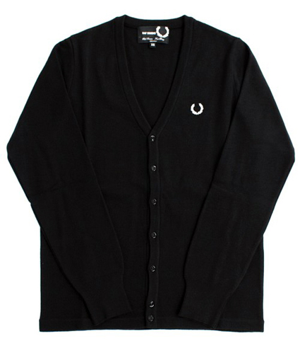 Fred Perry x Raf Simmons V-Neck Cardigan