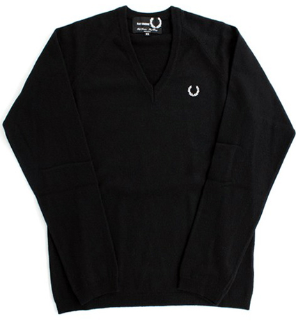 Fred Perry x Raf Simmons V-Neck Sweater